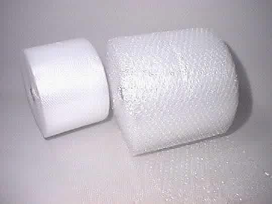 rolls of bubble wrap