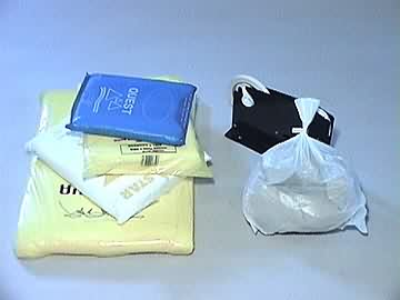 white high density butchers bags