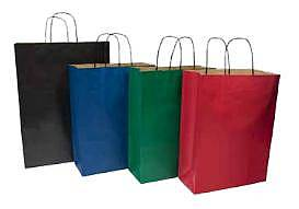 coloured paper carrier bags