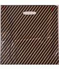 black/gold polythene carrier bag