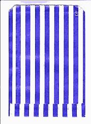Blue and White Stripe Patterned Paper Bag