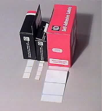 Photo of self adhesive labels