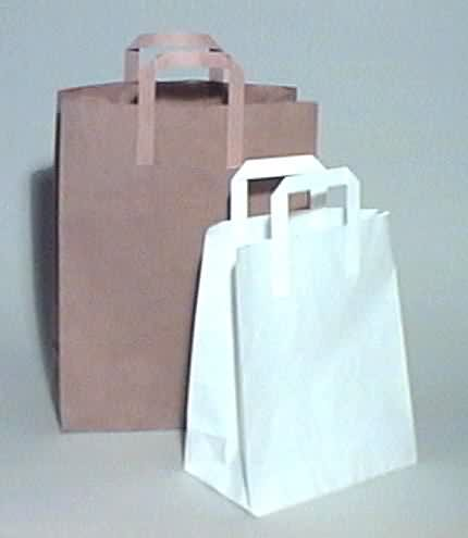 White Paper Take-away Carrier Bags